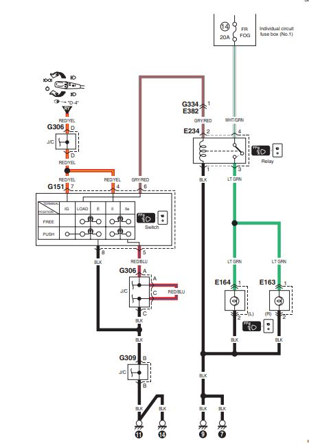 wiring diagram for fog light switch on